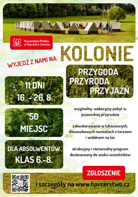 Kolonie 2021 - zaproszenie